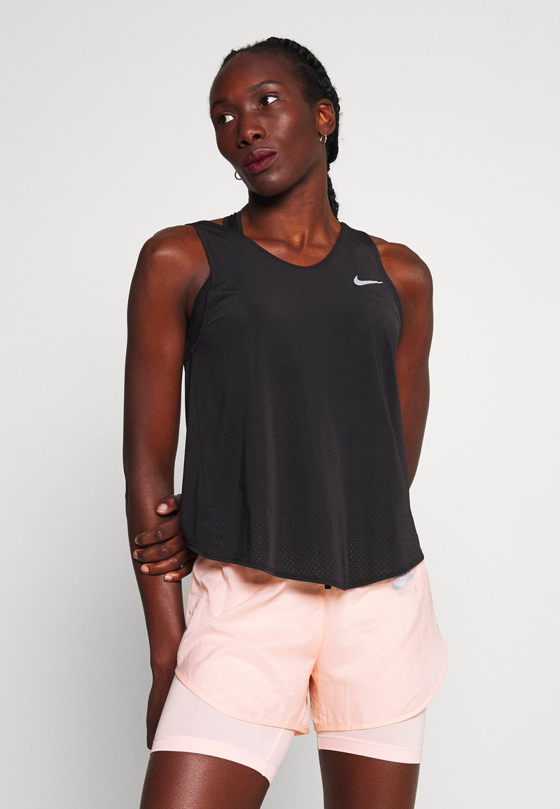 Nike Performance - TANK BREATHE - Sports shirt - black/reflective silver