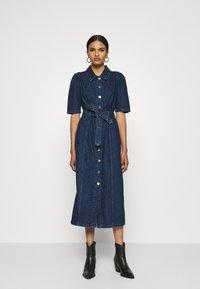 ONLY - ONLCLARITY LIFE PUFF - Vestito di jeans - dark blue denim - 0