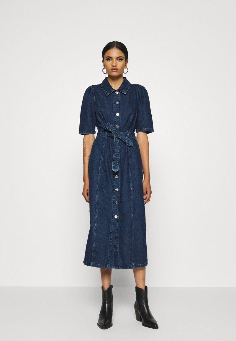 ONLY - ONLCLARITY LIFE PUFF - Vestito di jeans - dark blue denim