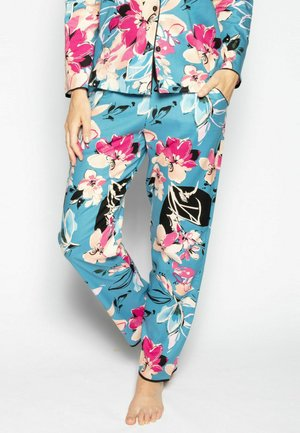 Pyjama bottoms - turq floral