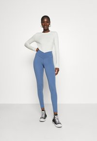 aerie - REAL ME CROSSOVER - Leggings - Trousers - somber navy - 0