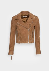 CLARISSE - Kožená bunda - sable