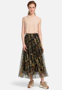 MARGITTES - Pleated skirt - schwarz/multicolor - 1