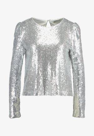 PERFECT SEQUIN - Blůza - silver