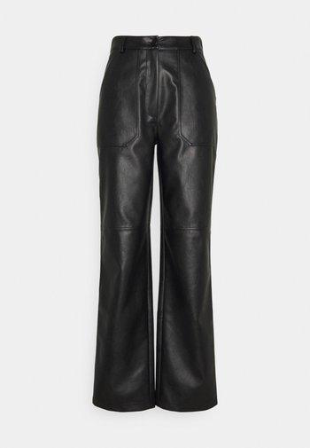 STRAIGHT LEG  - Trousers - black