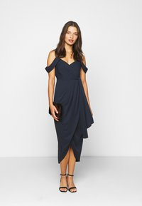 Forever New Petite - HADLEY WATERFALL MIDI - Cocktail dress / Party dress - navy - 1