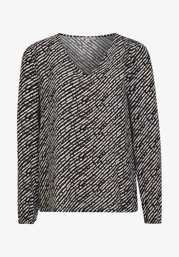 Blouse - dark grey handdrawn stripes