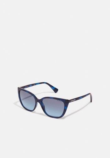 Sunglasses - shiny sponged havana blue