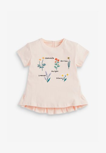 FLORAL EMBROIDERY - Print T-shirt - pink