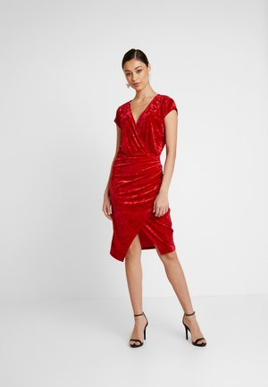 FRONT WRAP DRESS - Juhlamekko - red