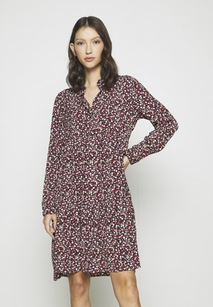 JDYPIPER DRESS - Skjortekjole - dark navy/rosa ditsy