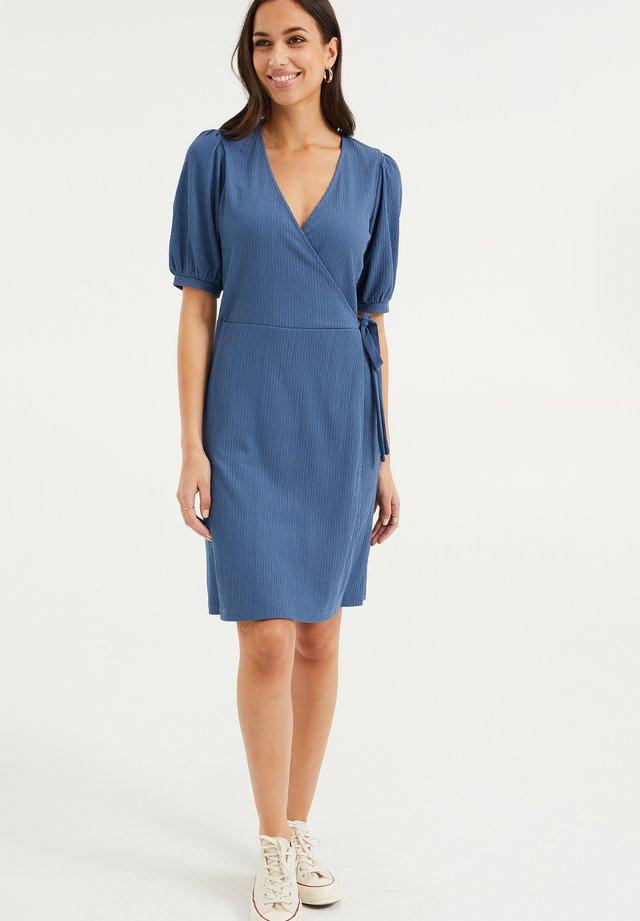 Korte jurk - pastel blue