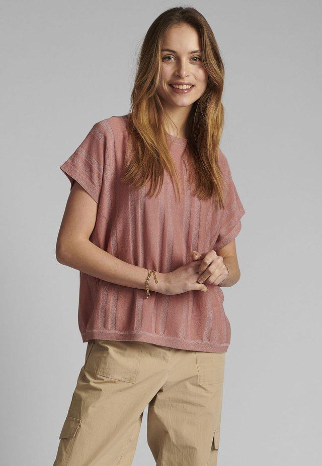 NUDAGAN DARLENE - T-shirt imprimé - ash rose