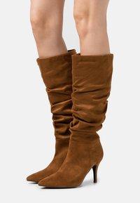 Steve Madden - VLOUCH - High heeled boots - cognac - 0