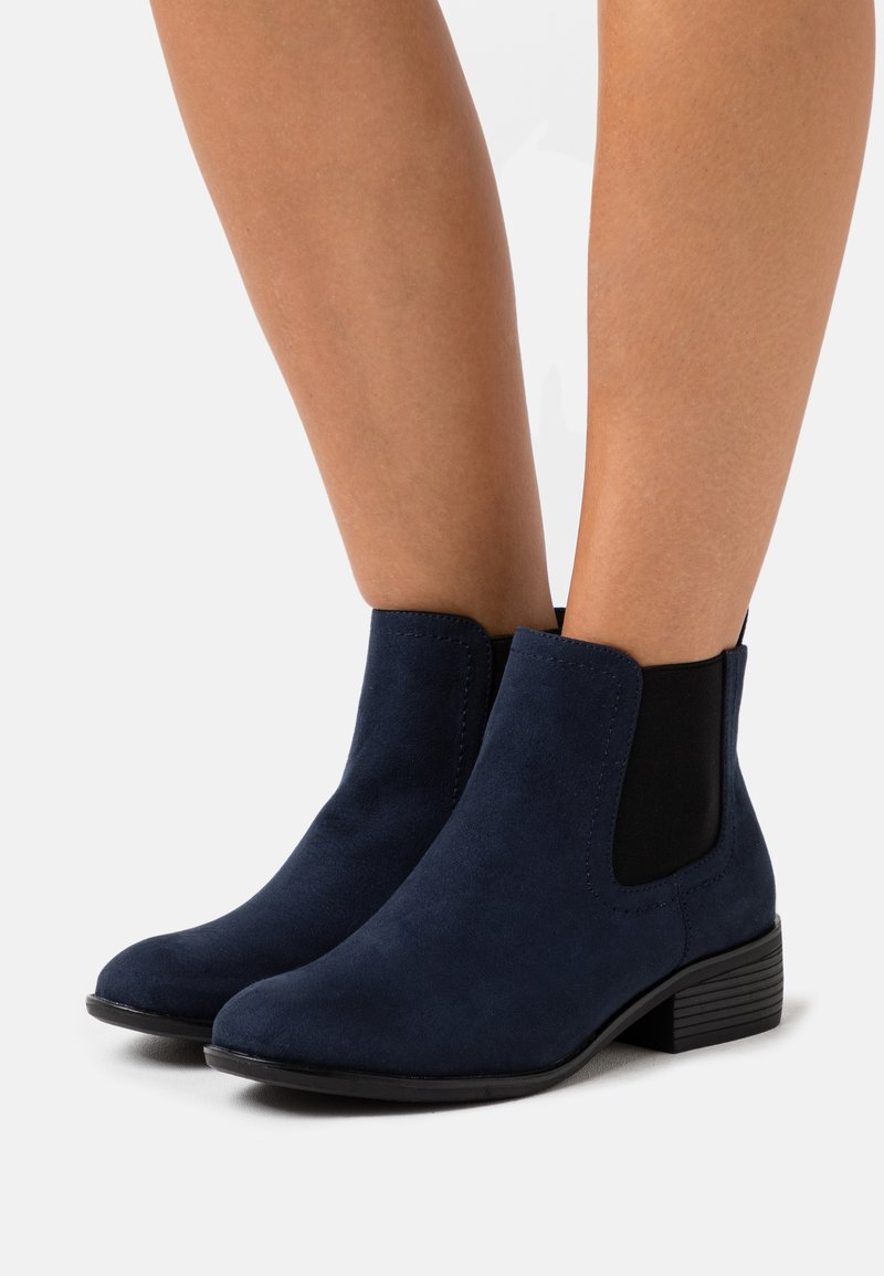 Dorothy Perkins Wide Fit - WIDE FIT MAPLE CHELSEA  - Ankle boots - navy