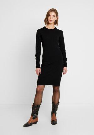 STRIPE DRESS - Pouzdrové šaty - black