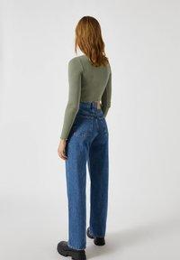 PULL&BEAR - Long sleeved top - mottled dark green - 2
