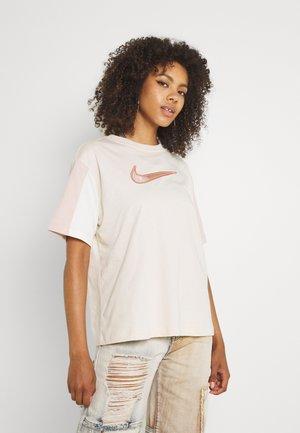 Print T-shirt - pearl white
