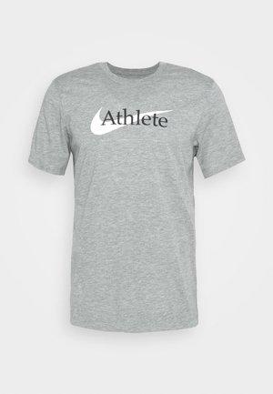 TEE ATHLETE - Camiseta estampada - dark grey heather
