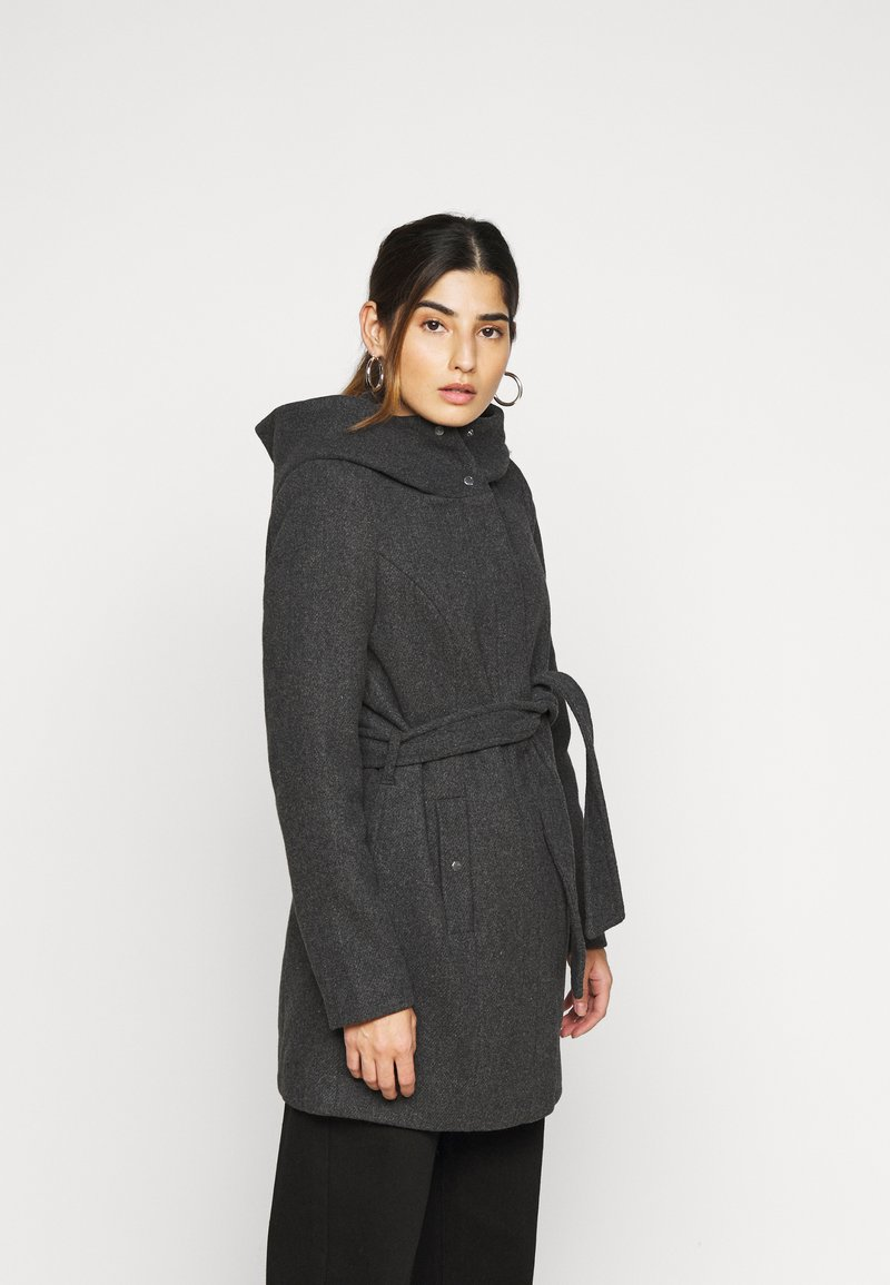 Vero Moda Petite - VMCLASSLIVA JACKET - Manteau classique - dark grey melange