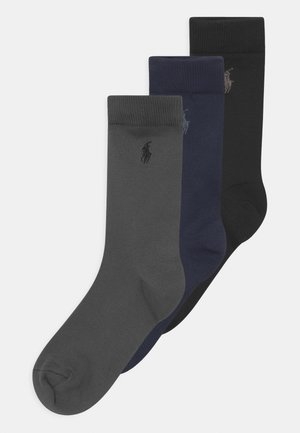 SUPERST CREW 3 PACK - Socks - navy/grey/black