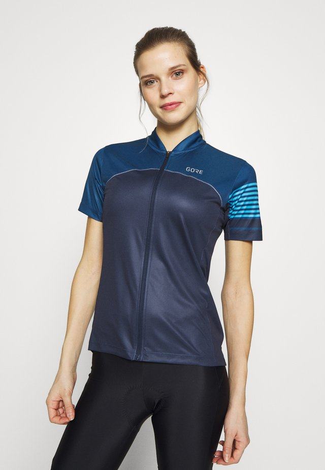 TRIKOT - Camiseta estampada - orbit blue/deep water blue