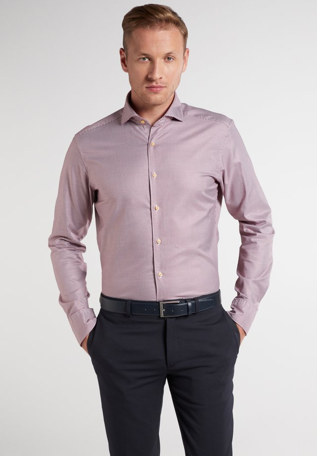 SLIM FIT - Formal shirt - rot/schwarz