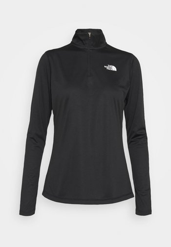 FLEX 1/4 ZIP - T-shirt sportiva - black