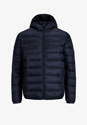 JJEMAGIC PUFFER HOOD - Light jacket - navy blazer