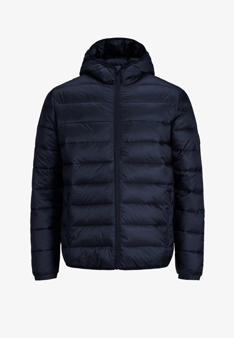 Jack & Jones - JJEMAGIC PUFFER HOOD - Light jacket - navy blazer