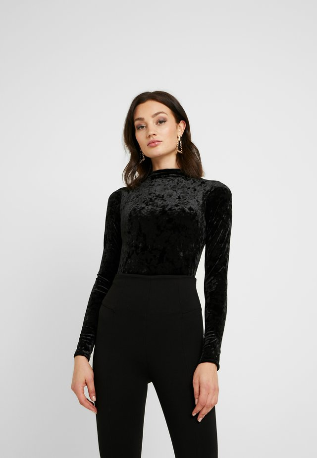 TURTLE NECK BODYSUIT - Long sleeved top - black