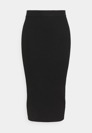 MIDAXI SKIRT - Pencil skirt - black
