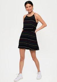 Superdry - GESMOKTER  - A-line skirt - black - 1