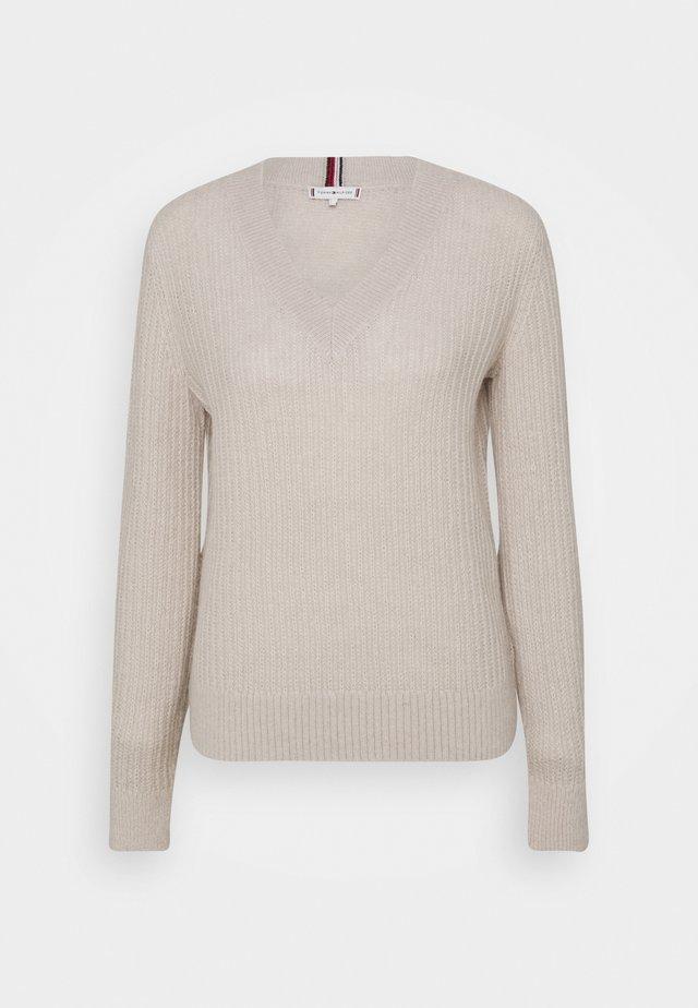 Sweter - vintage white