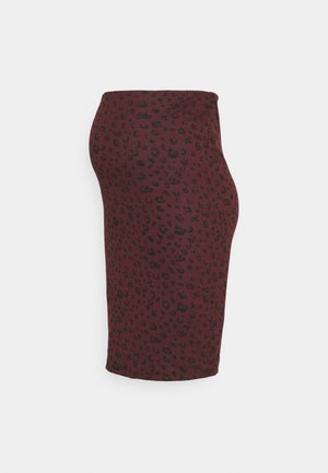 GIGI ANIMAL MIDI SKIRT - Pencil skirt - red