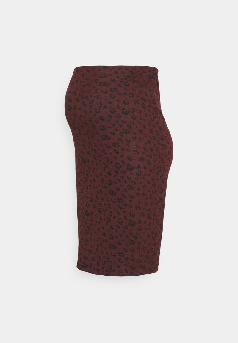 New Look Maternity - GIGI ANIMAL MIDI SKIRT - Pencil skirt - red