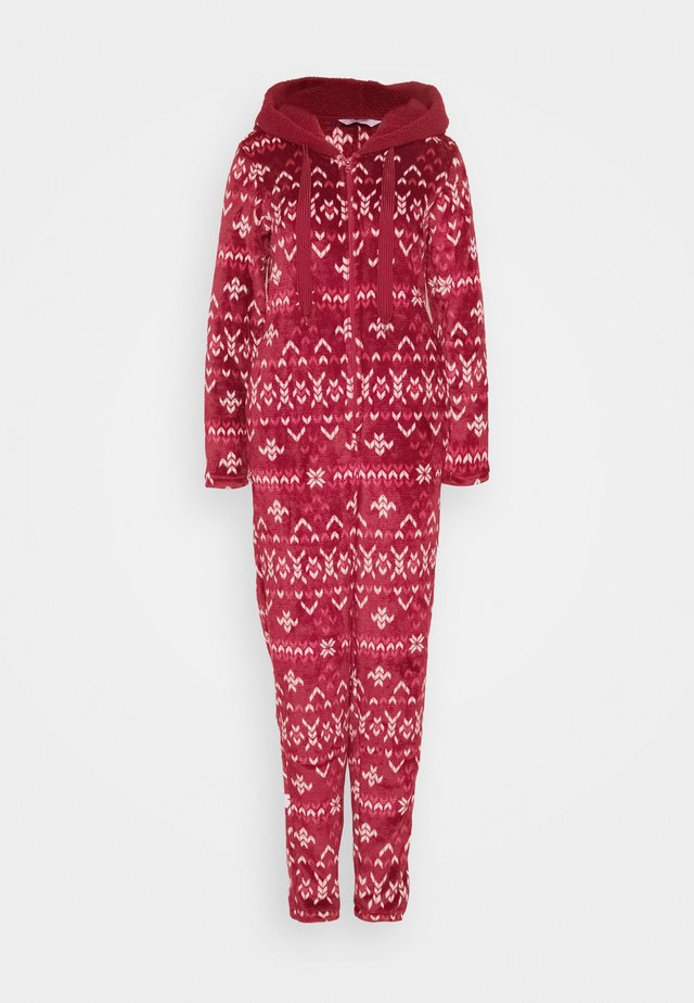 ONESIE FAIRISLE - Pyjama - rumba red