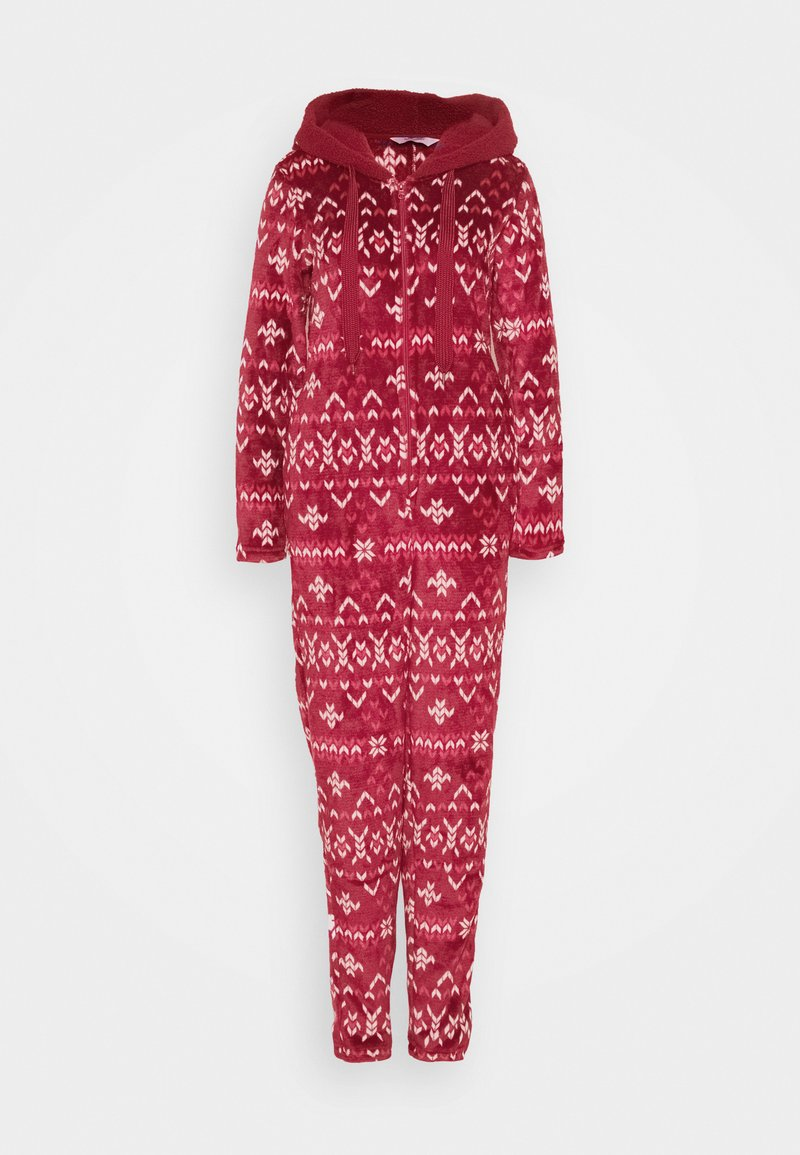 Hunkemöller - ONESIE FAIRISLE - Pyjamas - rumba red