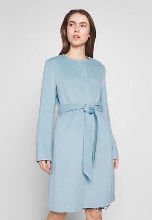 DOUBLE FACE BELTED  - Manteau classique - light blue