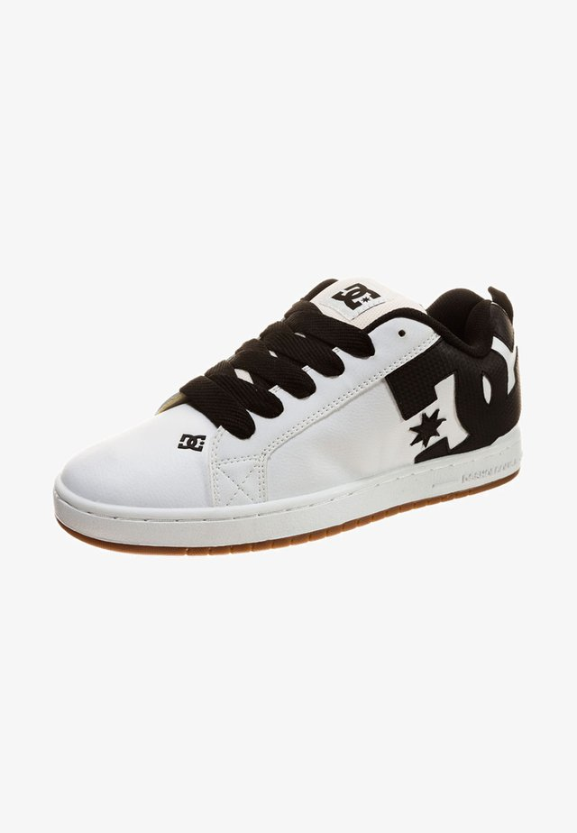 COURT GRAFFIK - Skateboardové boty - white/black basic