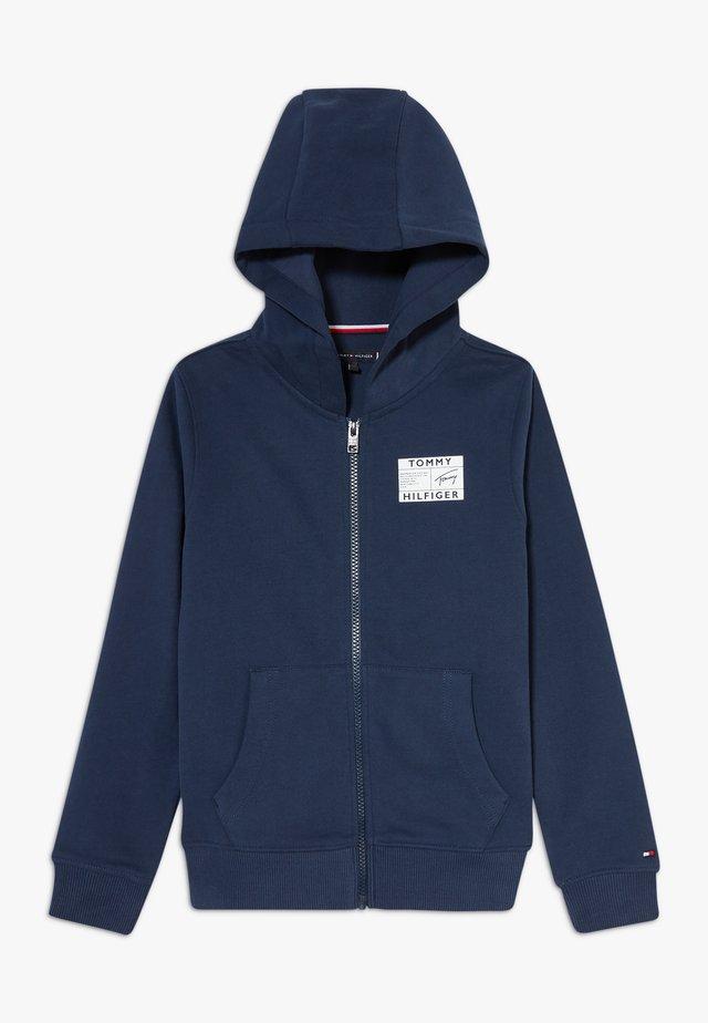 REFLECTIVE GRAPHIC FULL ZIP - veste en sweat zippée - blue