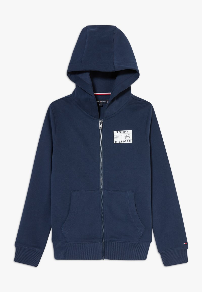 Tommy Hilfiger - REFLECTIVE GRAPHIC FULL ZIP - Hoodie met rits - blue