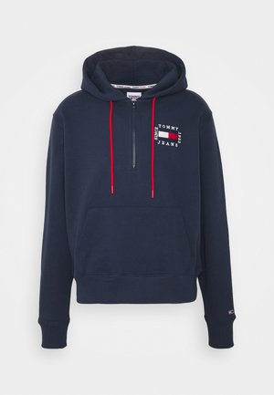HALF ZIP HOODIE UNISEX - Sweat à capuche - twilight navy