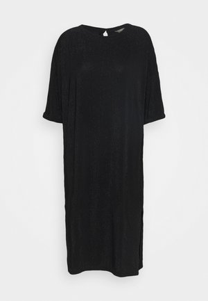DRESS SARA - Jersey dress - black