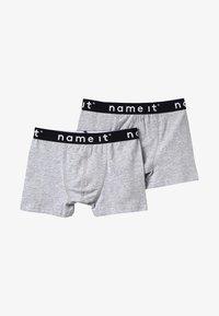 Name it - NKMBOXER SOLID 2 PACK - Pants - grey melange - 3