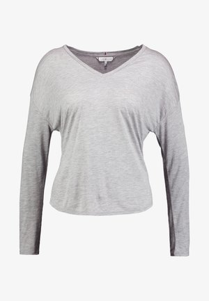 POPPY V-NK - Camiseta de manga larga - light grey heather