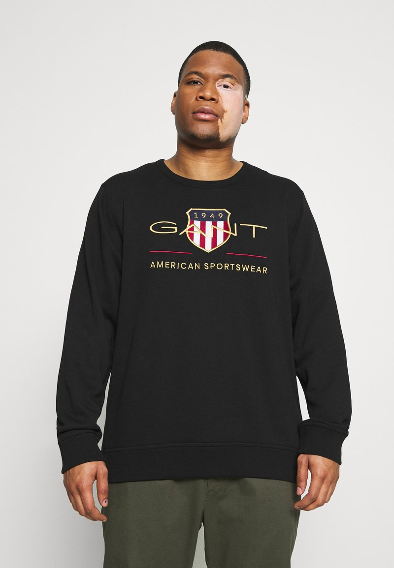 GANT - PLUS ARCHIVE SHIELD C NECK - Sweatshirt - black