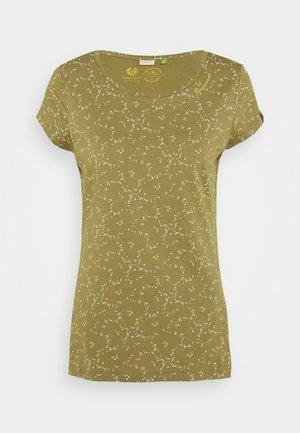 MINT ORGANIC - Print T-shirt - khaki
