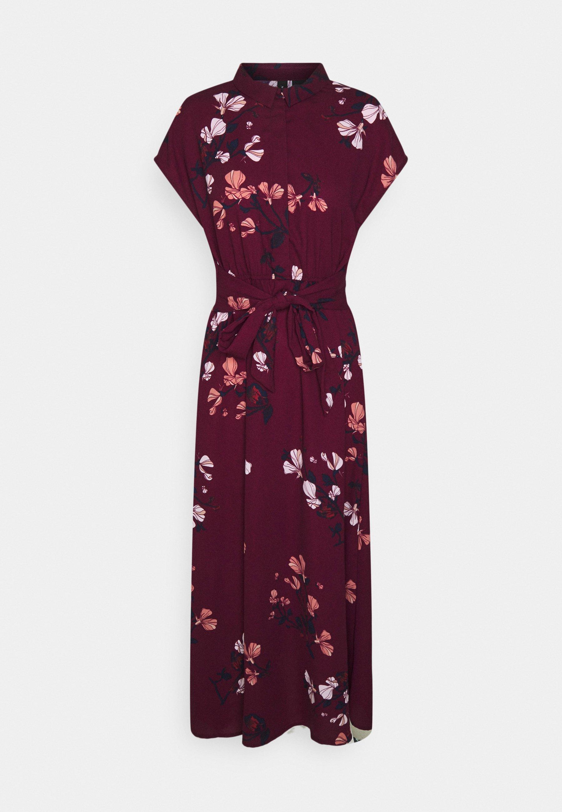 Mujer VMHALLIE LONG TIE DRESS - Vestido camisero