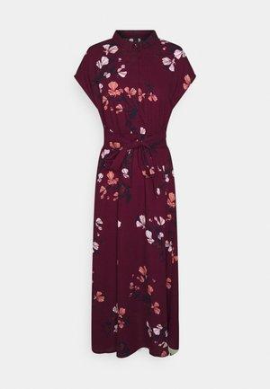 VMHALLIE LONG TIE DRESS - Paitamekko - dark red
